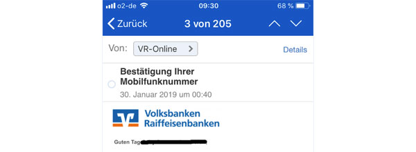 Phishing-Mail DSGVO