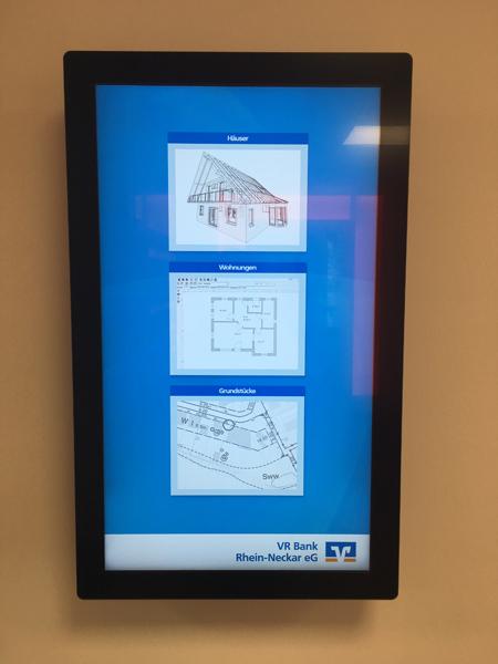 Digitaler Immobilienaushang Filiale Neckarhausen