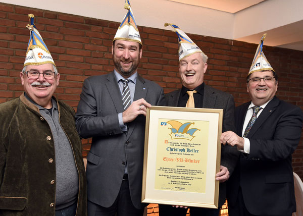 Auszeichnung Ehrenbänkerkappe
