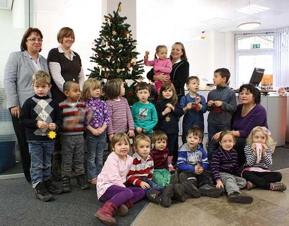 Weihnachtsbaumschmücken in Mannheim-Niederfeld