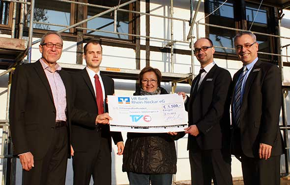 VR Bank Rhein Neckar eG spendet 1.500 Euro an den Turnverein Edingen