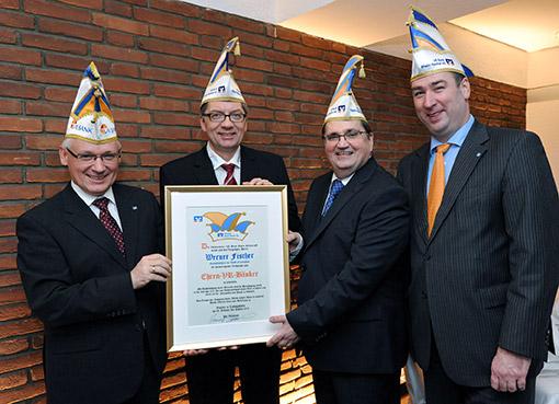 Verleihung Ehrenbänkerkappe