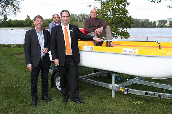 Neues Tretboot für den DLRG-Wachdienst in Heddesheim