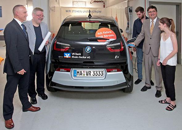 E-Auto der VR Bank Rhein-Neckar