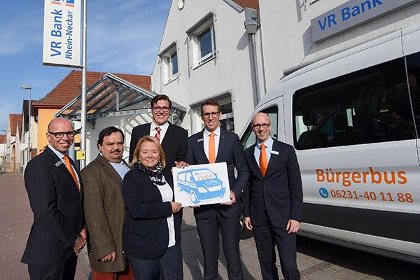 Spendenübergabe Bürgerbus Gemeinde Dannstadt-Schauernheim